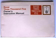 ROVER tremila cinque-Manuale Auto-FEBBRAIO 1969 - # 605875 - 2nd NUOVO