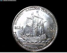1924 Huguenot-Walloon Tercentary Silver Commemorative Half Dollar 142K Mint#A264