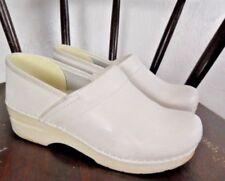 Dansko Shoes Womens White Leather Professional Nurse Clogs Size 7.5-8 US 38 EU