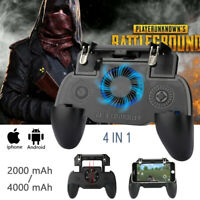 Mobile Games Cooling Fan Gamepad Joystick Controller For 4.7-6.5'' Phone PUBG