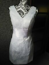 Divine robe de mariée courte sexy 36 demoiselle d'honneur push up dentelle NEUVE