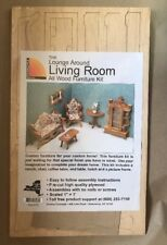 Vtg 90s Corona Lounge Living Room Wood Furniture Doll House Kit Easy Assembly