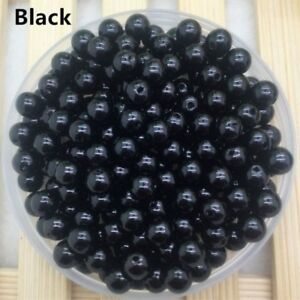 New 4mm-12mm ABS DIY  Round Pearl Loose Acrylic Beads Jewelry Making