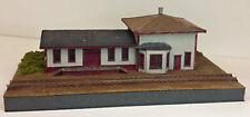MAHONEY STATION N Model Railroad Depot Structure Unptd Laser Wood Kit RSM2210N