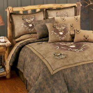 Whitetail Deer Ridge Bedding Set Comforter Skirt Shams Add Sheets Drapes & More