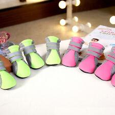4Pcs Suministros para Mascotas Perro Impermeable Botas Zapatos Protector Lluvia