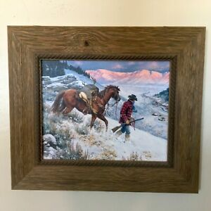NO PLACE LIKE HOME CLARK KELLEY PRICE BARN WOOD FRAMED CANVAS PAINTING ART PRINT