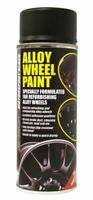E-TECH Car Alloy Wheel Spray Paint MOTORSPORT BLACK 400ML Can Chip Resistant