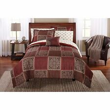 King Size Comforter Set Brown Chocolate 8 Piece Bed In Bag Bedding Pillows
