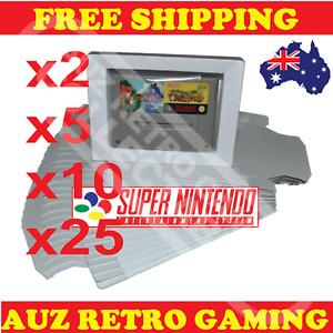 NEW SNES Super Nintendo Game Box Cardboard Insert Tray