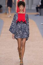Chloe Spring 2016 Runway Blue and Red 1970s Style Boho Dress