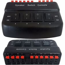 4 Puertos Switch Splitter/Selector de altavoces de zona * 200W Caja de distribución de audio 8 Ohm *
