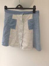 Cotton Blend A-line No Pattern Regular Skirts for Women