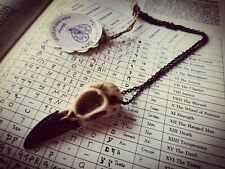 Raven Skull Necklace Resin Crow Steampunk Gothic Witch Halloween Men Women Bird