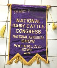 Ayrshire Cow Vintage Banner 1961 National Dairy Cattle Show Waterloo Iowa #2