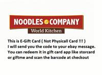 $100 Noodles & Company Gift Card - 50% OFF (read description pls)