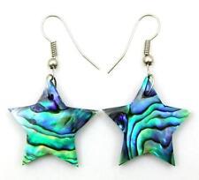 Natural Abalone Shell Dangle Drop Star Earrings Handmade Women Jewelry CA407