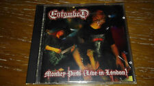 ENTOMBED RARO CD anno 1993 Monkey puss Live in London DEATH SPEED GOTHIC METAL