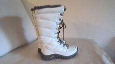 UGG Australia Women's Boot Knitle White Leather Boots 1002149B Sz 5 $295
