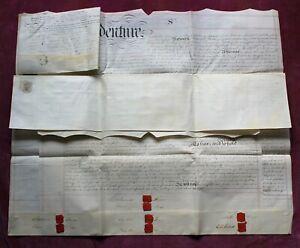 1839 VELLUM INDENTURE. FINN (x5) – MITTELLL. SAINT MARY'S, ROMNEY MARSH, KENT.