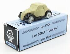 OFFICINA-942 ART1006B SCALA 1/76 FIAT 500A TOPOLINO 1936 BEIGE BLACK