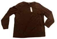 NWT Talbots Brown Pullover 100% Merino Wool Sweater Size XL 1X