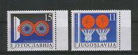 YUGOSLAVIA-MNH**- SET-SPORT-BASKETBALL-1991.