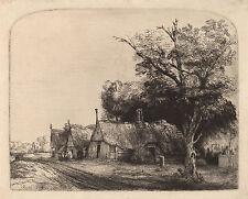 Rembrandt Reproductions: Landscape with a 3 Gabled Cottage: Fine Art Print