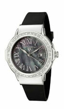 Swiss Legend 20032D-01 South Genuine Diamond Accented Black Mother of Pearl Dial