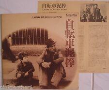 The Bicycle Thief~Ladri di Biciclette Vittorio De Sica Italian Japan Laserdisc