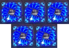 5x Leise Lüfter 120x25mm für PC Computer Gehäuse Stripe beleuchtet FAN Blau LED