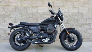 Moto Guzzi V9 Bobber / Roamer MassMoto Exhaust Full System 2in2 Hot-Rod Black