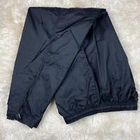 Mens L Large Nike Joggers Nylon Windbreaker Pants Metallic Black Shiny EUC