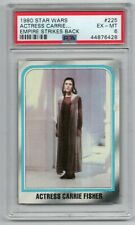 1980 Star Wars Empire Strikes Back Actress Carrie Fisher # 225 Psa 6