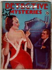Snappy Detective Mysteries May 1935 SCARCE FIRST; GGA Quintana Cvr.