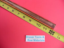 """5/8"""" C110 COPPER ROUND ROD 12"""" long H04 Solid .625"""" OD CU New Lathe Bar Stock"""
