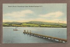 Vintage Postcard Unused Baker'S Beach Canadarago Lake Richfield Springs New York