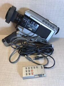 Vintage Colour Video Camera Camcorder JVC GX88E Handheld TV Prop + Rare Remote