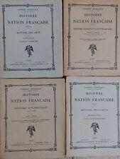 HISTOIRE DE LA NATION FRANCAISE RELIGIEUSE DES ARTS DIPLOMATIQUE ECONOMIQUE FINA
