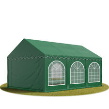 Marquee 4x6m dark green solid PVC 500g/m² party tent waterproof w. ground frame