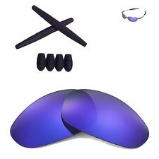 WL Purple Polarized lenses And Black w Ear socks T-shocks for Oakley Juliet