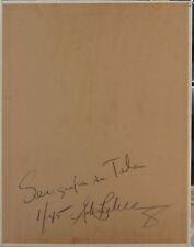 Gordon Breckenridge  serigrafia cartone telato RAGAZZA 55x43  firmata  numerata
