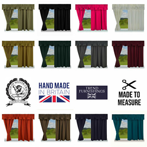 BLACKOUT & THERMAL FULLY LINED CARAVAN CURTAINS MADE IN THE UK, MADE TO MEASURE