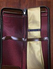 VINTAGE zip up brown tie holder