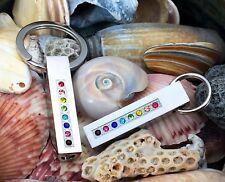 """Pet Cremation Pendant Urn Keychain 1"""" Key Ring for Ashes Dog Cat Rainbow Bridge"""