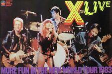 Exene Cervenka X 1983 More Fun In The New World Original Concert Promo Poster