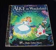 Vtg Little Golden Book Alice in Wonderland Disney 1977 Story 59 cents   -EEX