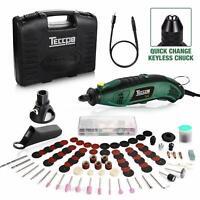 Rotary Tool TECCPO Professional 8,000-35,000RPM, Universal Keyless Chuck, Flex s