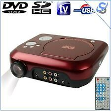 Portable Video Projector DVD Player TF Card 10 Lumens 10-80 inch Games Function