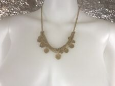 SALE Women's Minimalist Gold Chain & Disc Necklace, Pre-Owned, Fashion Jewelry